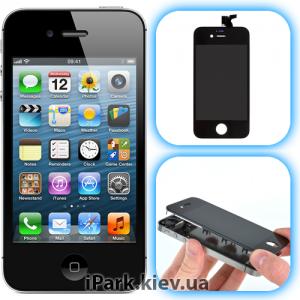 iphone 4s iPark замена сенсорного стекла и дисплея retina в iphone 4s