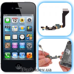 iphone 4 iPark замена системного разъема и микрофона в iphone 4